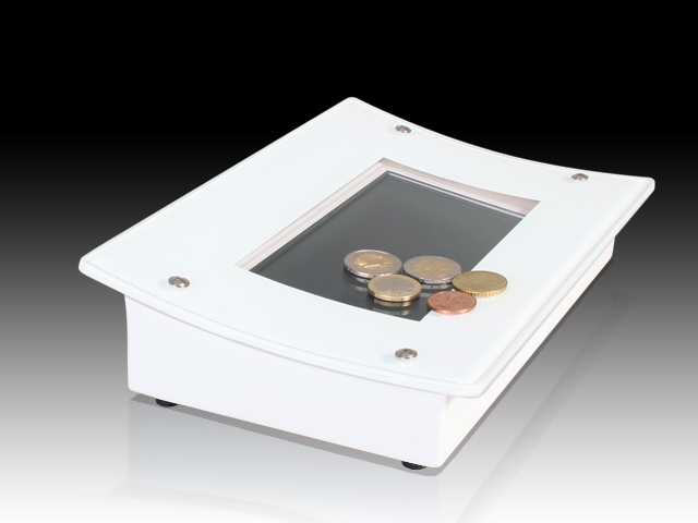 le clou neu le clou 7 zoll digital signage pay tray. Black Bedroom Furniture Sets. Home Design Ideas