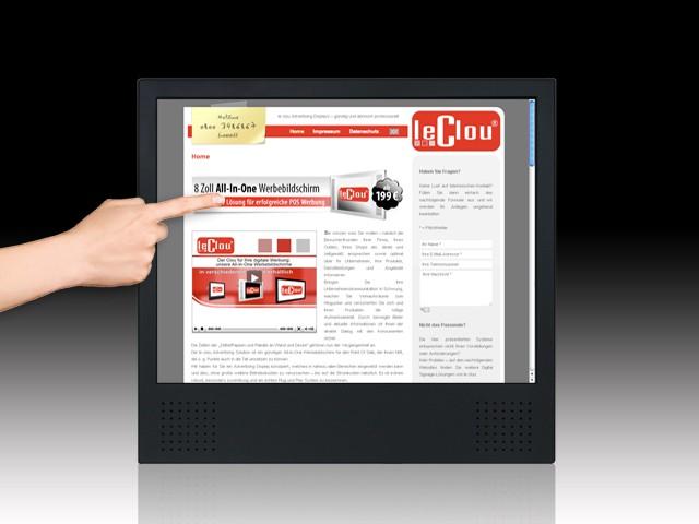 le clou 15 & 17 Zoll Touchscreen-System (Kiosk)