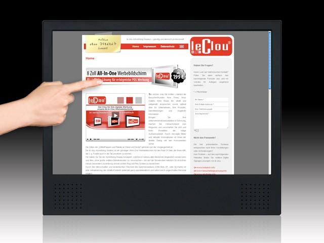 le clou 19 & 22 Zoll Touchscreen-System (Kiosk)