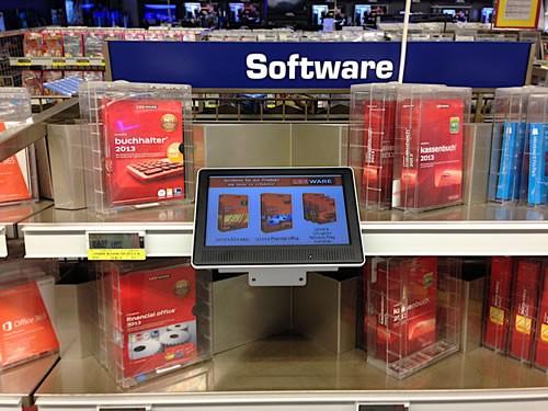 Interaktiver 10,1 Zoll Produktberater für Lexware-Software
