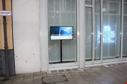 Bank-TV/Schaufenster-TV mit 46 Zoll Spezial-Display
